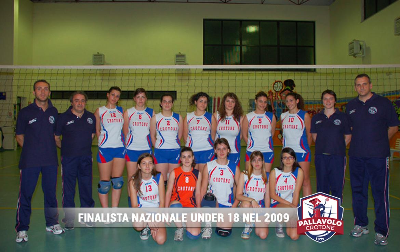 Finalista Nazionale Under 18 - 2009